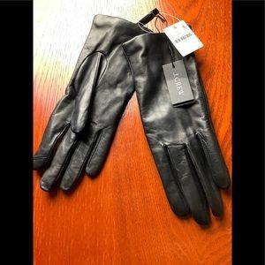 J. Crew NWT Black Leather Gloves